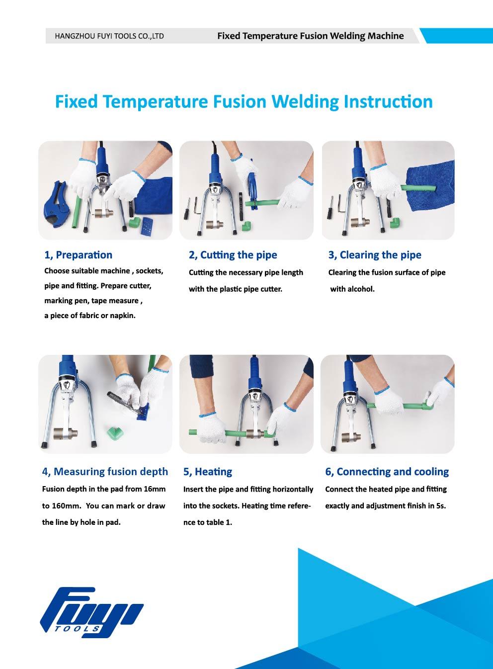 socket fusion welding machine instruction